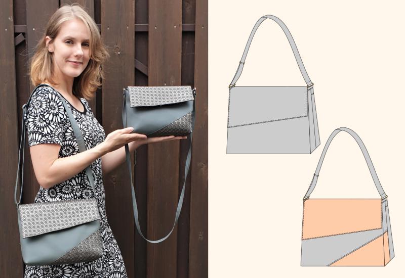 Handtasche Chloe - mit schräger Taschenklappe - eBook