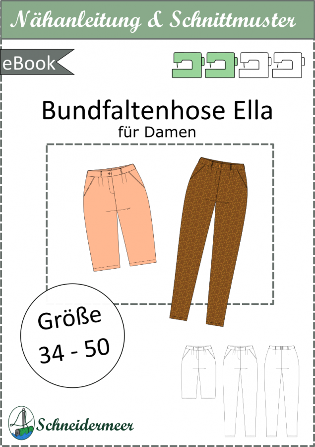 Ella - Bundfaltenhose für Damen - eBook